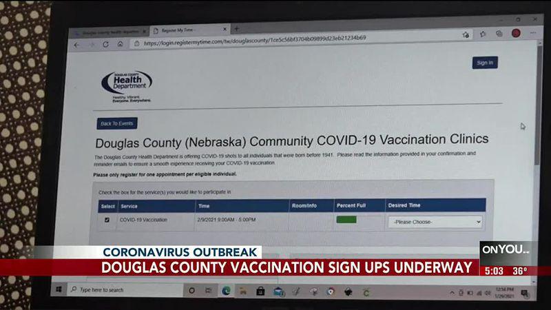 Douglas County vaccination sign-ups underway