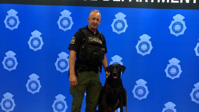 """A member of the Omaha Police K-9 unit has been declared Omaha's unofficial """"good boy."""""""