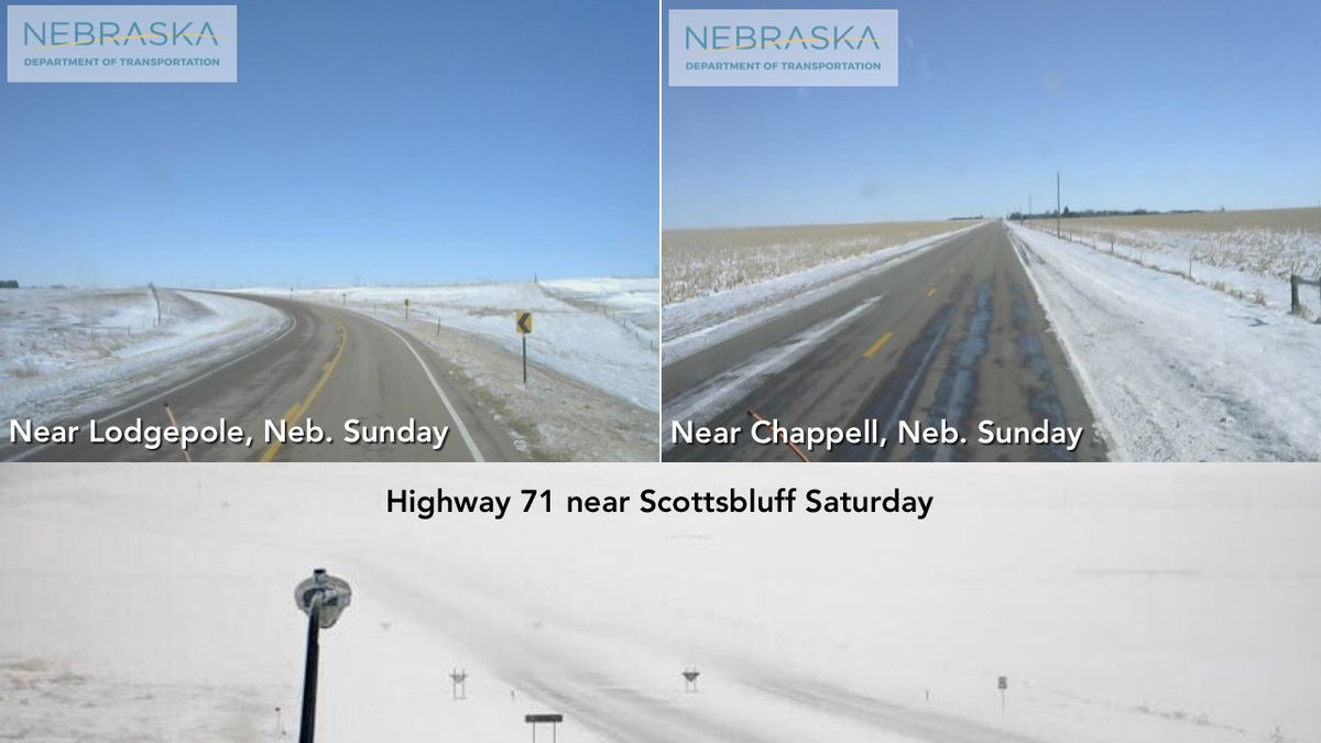 Nebraska highways are gradually reopening after being shut down by wind-driven snow.