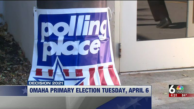 Omaha Primary Election Tuesday, April 6 - 4 pm