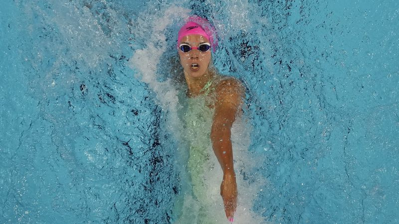 Regan Smith participates in the women's 100 backstroke during wave 2 of the U.S. Olympic Swim...