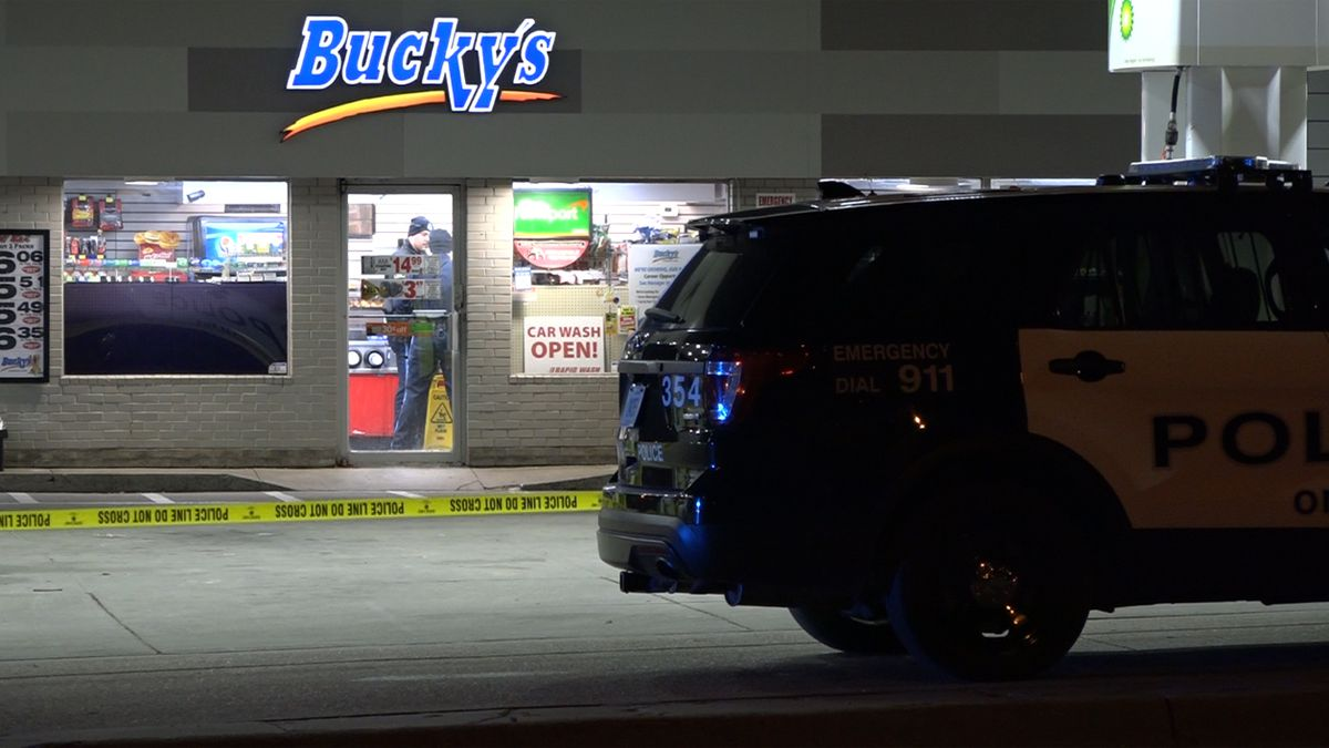 Armed robber holds-up Bucky's at 24th and Martha.