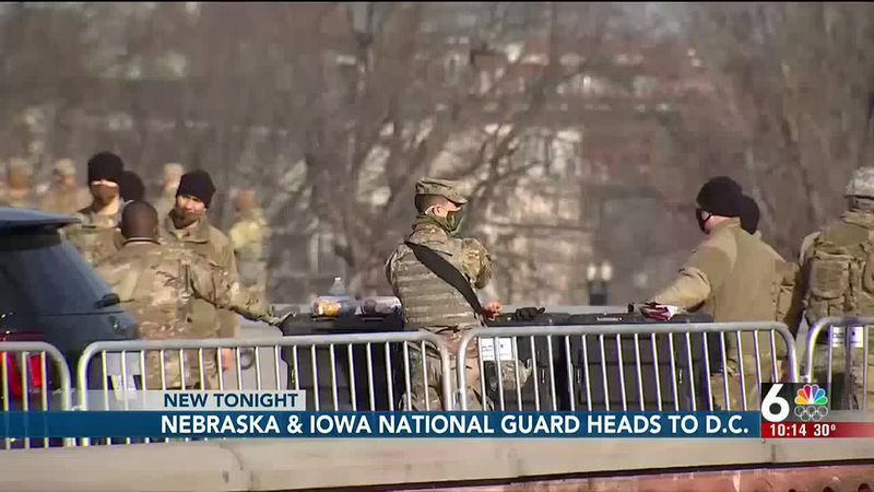 Nebraska & Iowa National Guard heads to D.C.