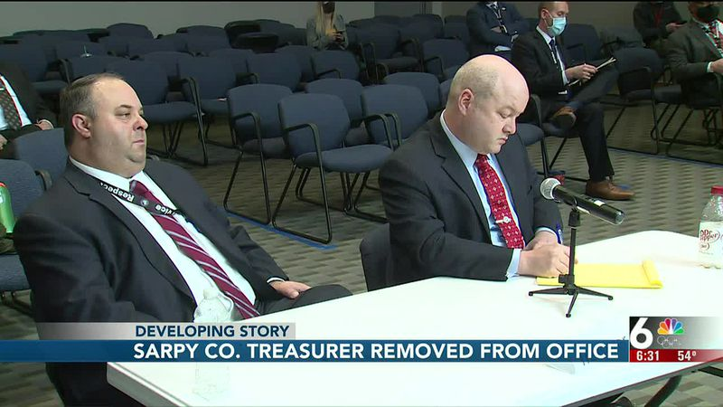 Sarpy County Treasurer removed from office - 6:30 pm