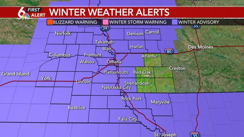 Winter Weather Advisory through Monday morning