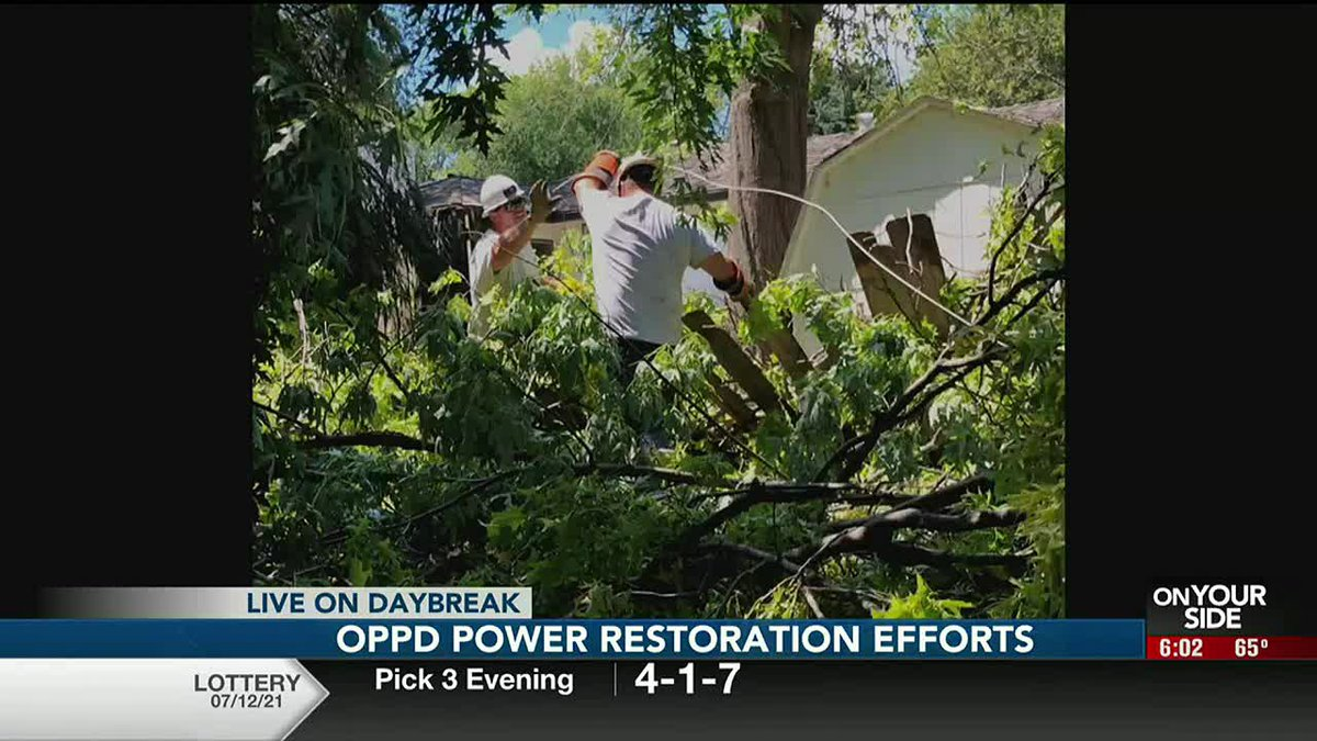 Omaha Public Power District said Tuesday that cleanup and repair crews are moving to individual...