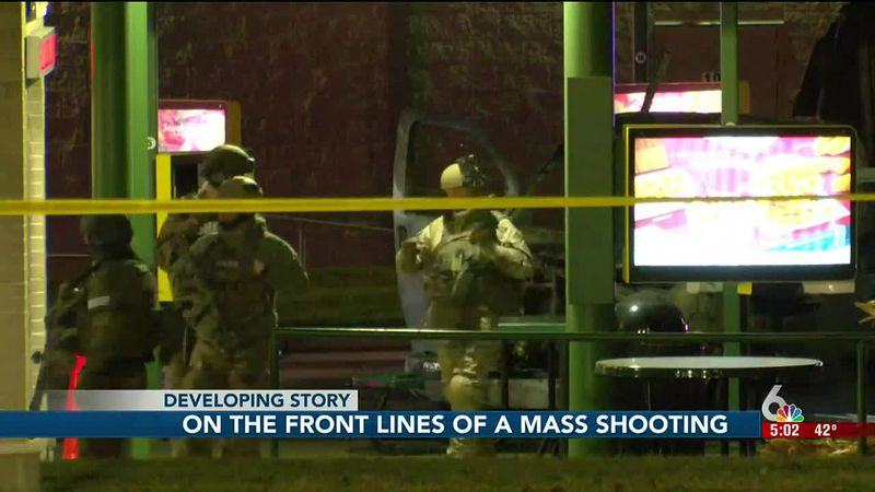 First responders on the scene investigating Saturday night's shooting will most likely remember...