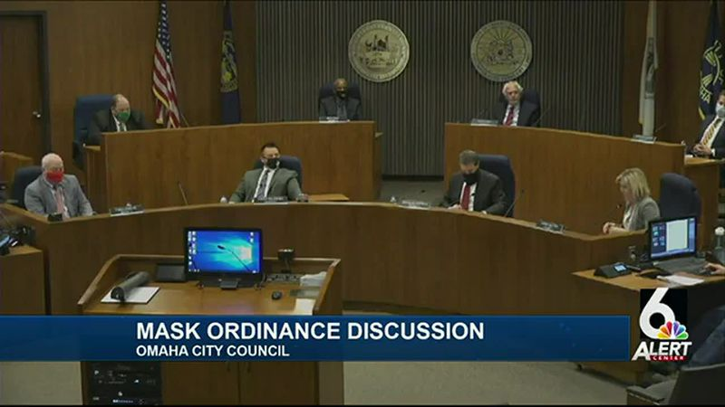 Ahead of public comment at the end of its meeting Tuesday, Sept. 29, 2020, Omaha City Council...