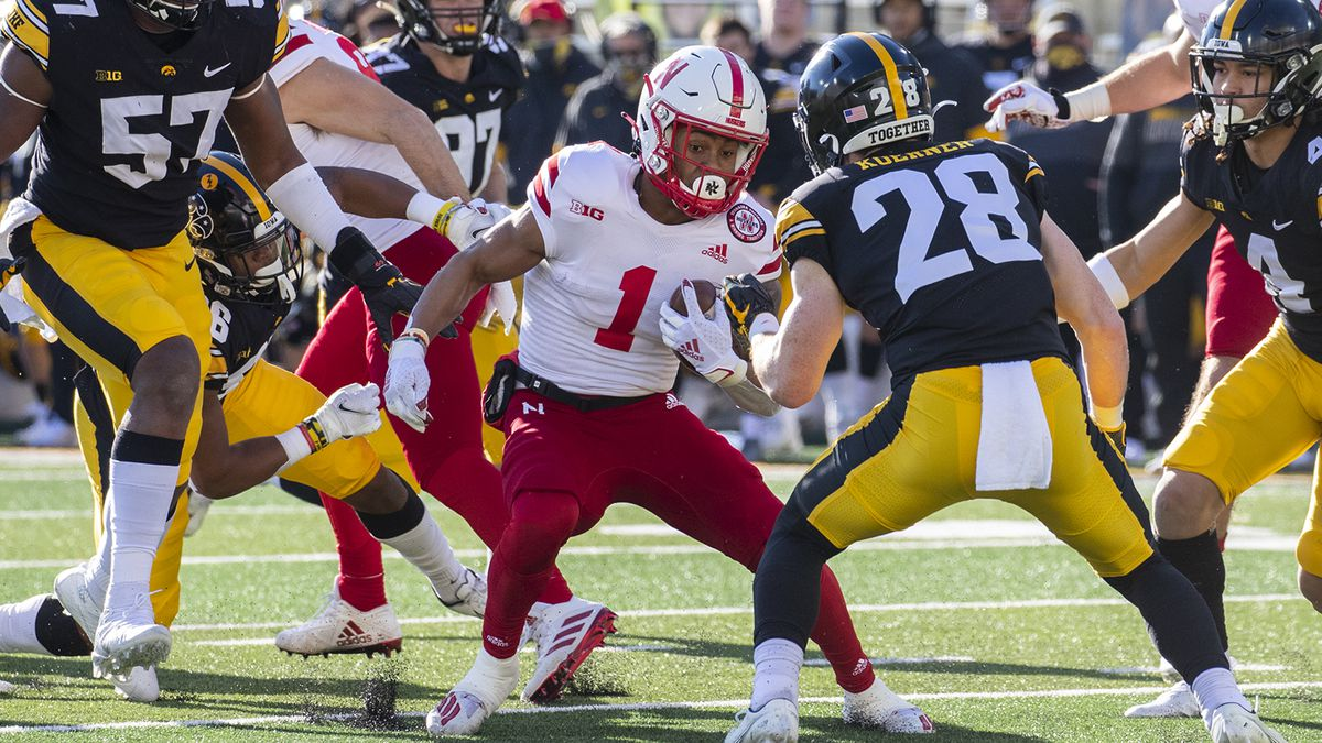 Nebraska Cornhuskers wide receiver Wan'Dale Robinson #1