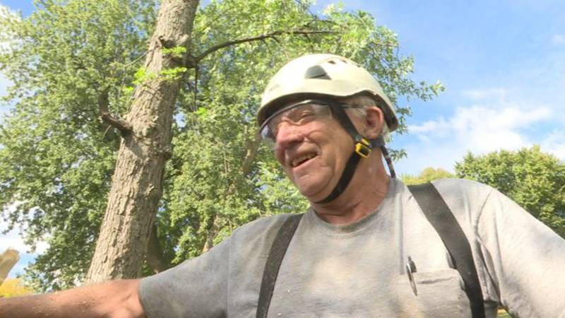 Peter Brewer was 70 years old when restarted his tree-trimming business. He also stays active,...