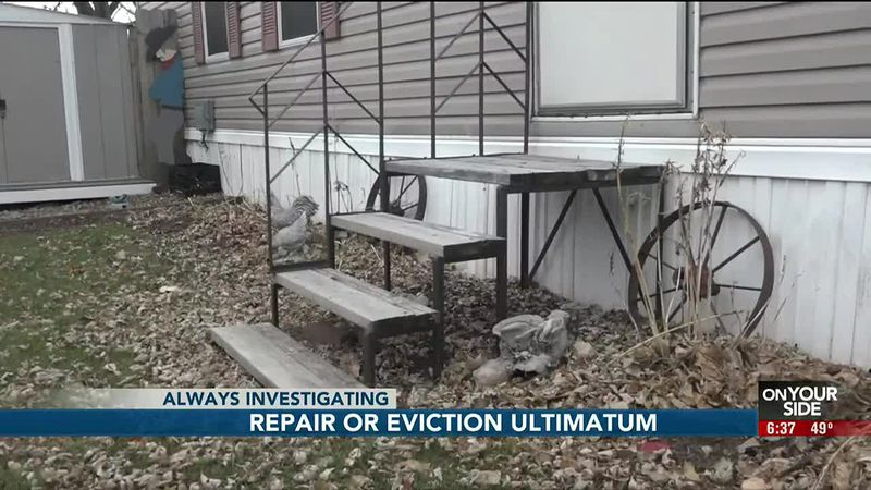 An anxious start to the holiday season for dozens of mobile home residents in northwest Omaha....
