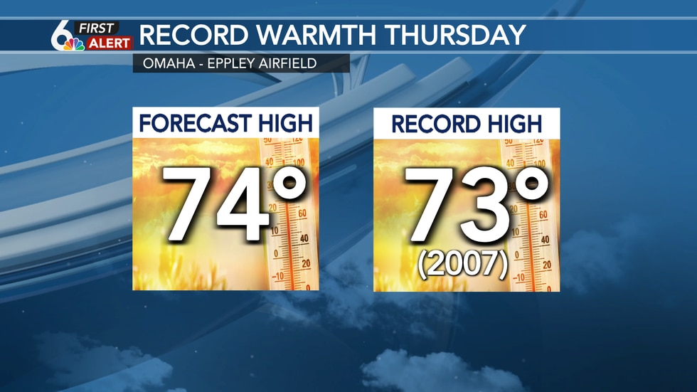 Record highs likely Thursday!