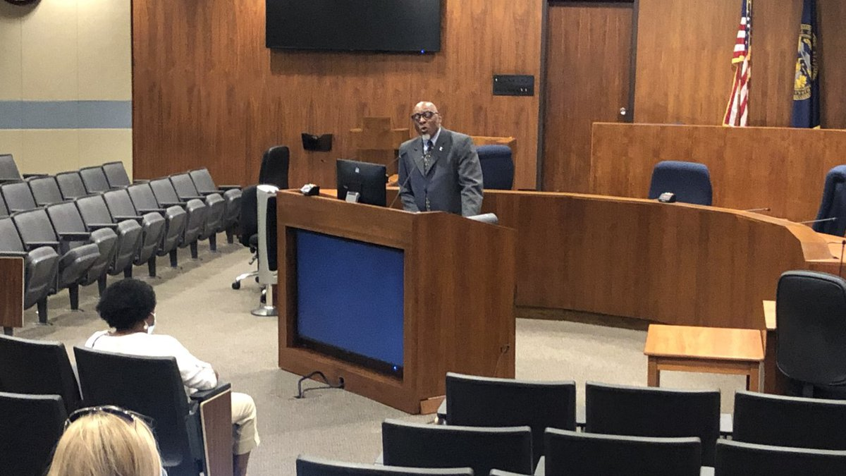 Special prosecutor Frederick Franklin speaks at City Hall on 6/10/20