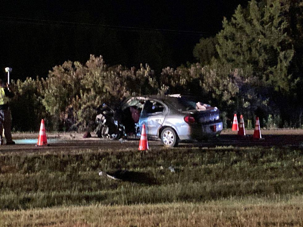 Seven teens were injured in a head-on crash in the Bennington area.