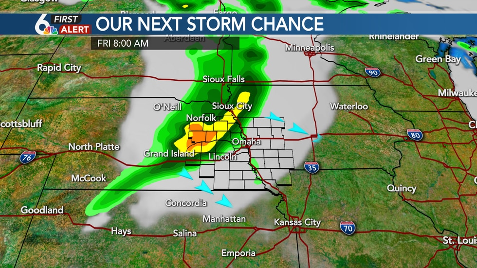 Friday morning storm potential