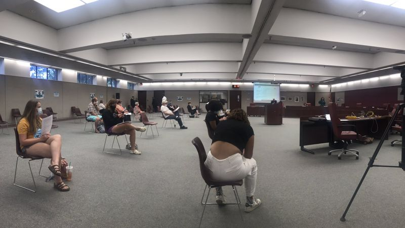 Omaha Public Schools board opened its meeting to in-person attendance Monday, July 13, 2020.