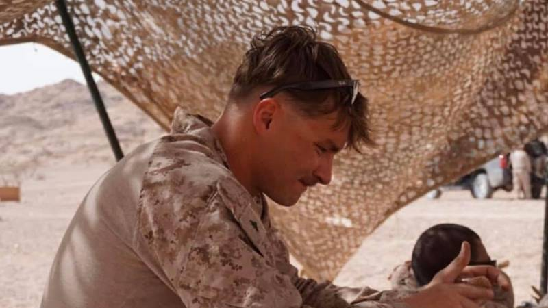 Cpl. Daegan Page on active duty.