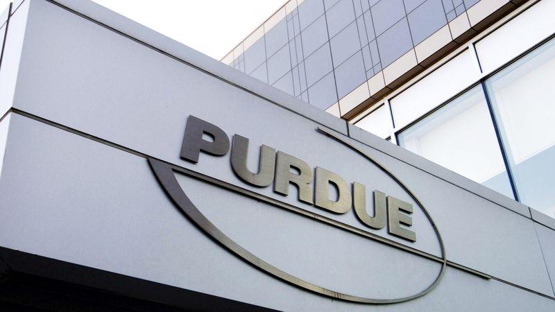 This photo shows the Purdue Pharma logo.