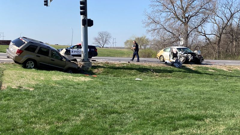 Two people injured in crash involving car & SUV at 111th & Emmett near West Maple. (4/5/2021)