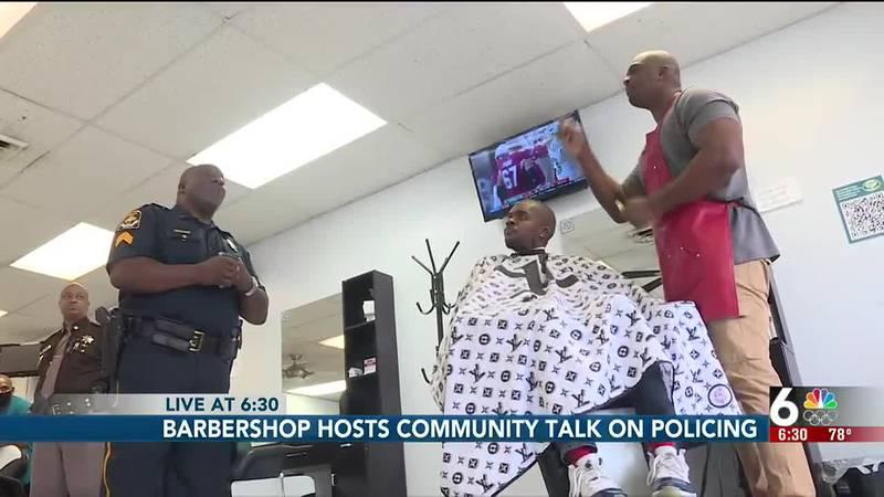 Barbershop hosts police meetup
