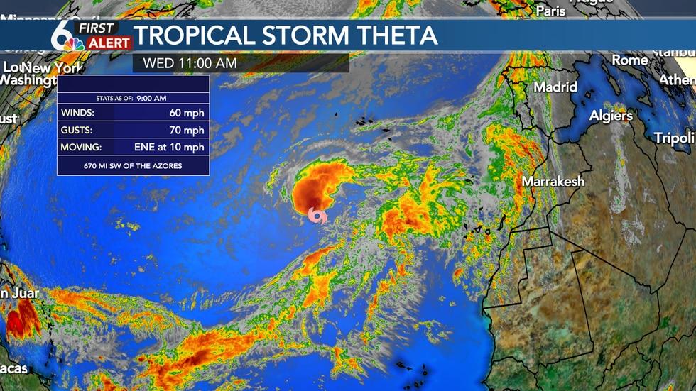 Theta is the 29th named storm of the Atlantic Hurricane Season
