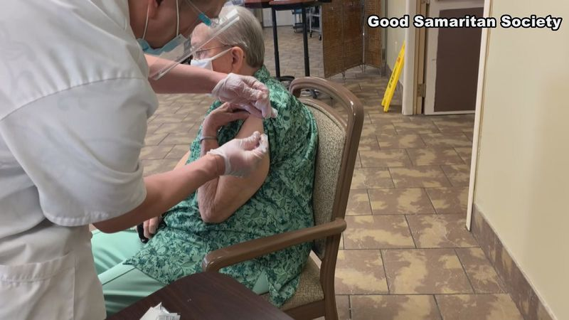 Staff and residents at the Good Samaritan Nursing Home in Millard welcomed Tuesday's visitors...
