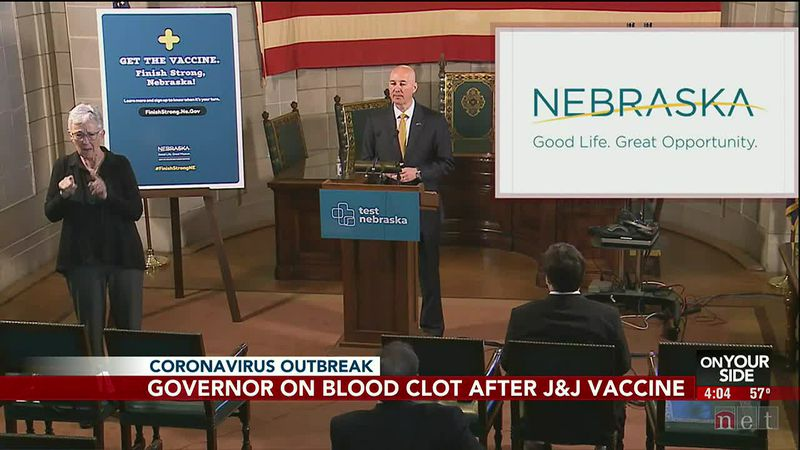 Gov. Ricketts on blood clot after J&J vaccine - 4 pm