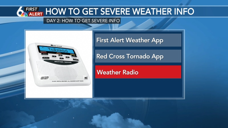 Have multiple ways to receive severe weather information!