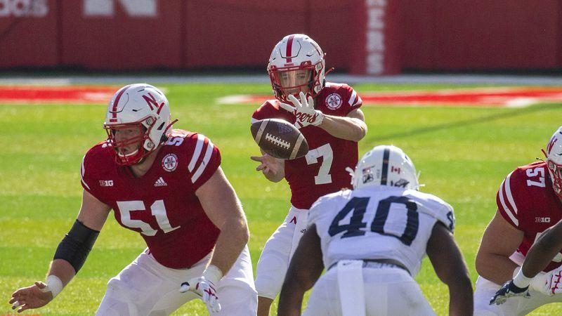 Nebraska Cornhuskers quarterback Luke McCaffrey #7Nebraska FB vs Penn StateNebraska...