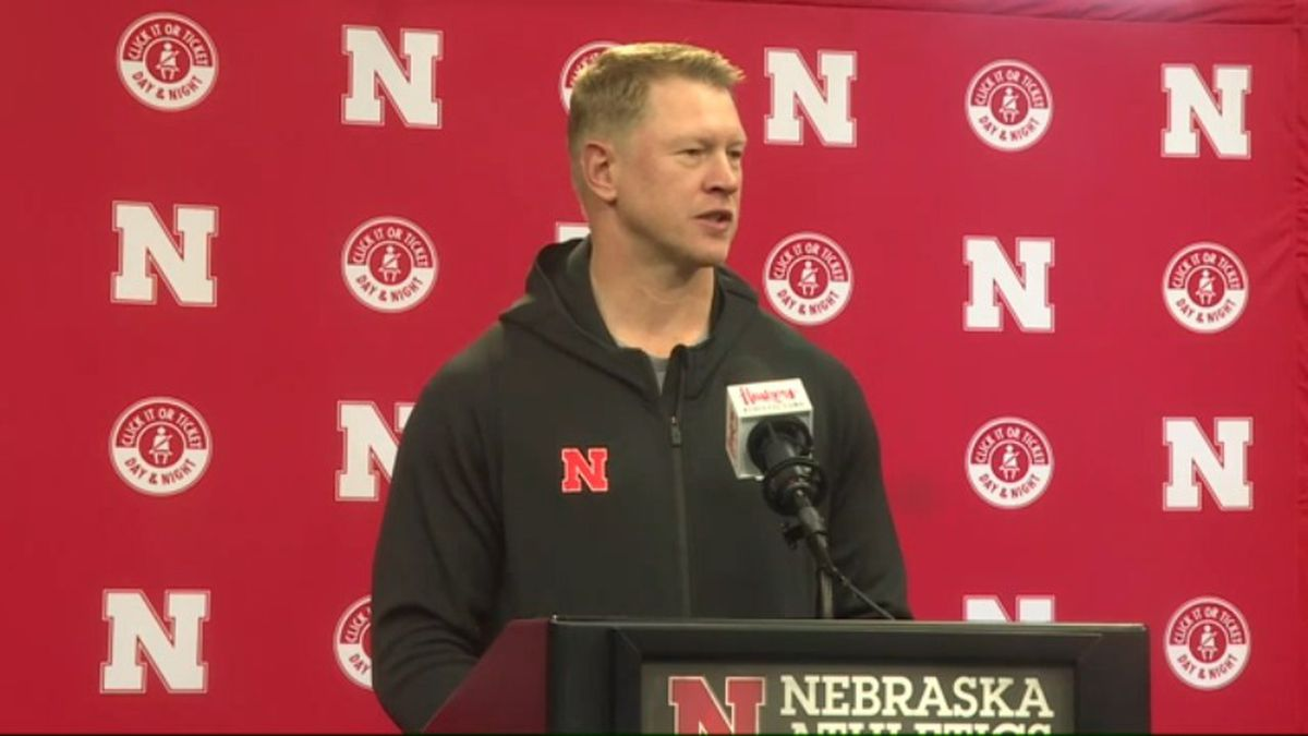 Nebraska Football Coach gives an update Monday afternoon, March 9, 2020, following the team's first spring practice. (WOWT)