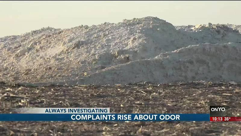 A fertilizer being spread on land northwest of Omaha caused complaints about an unnatural smell.