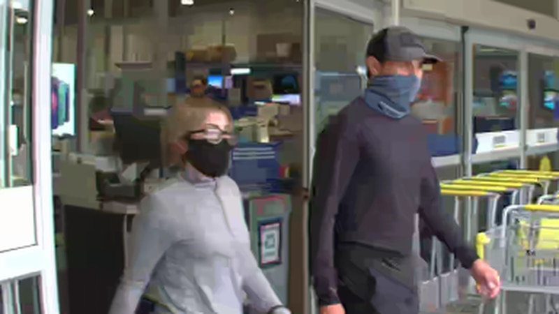 Surveillance picture shows couple who used stolen credit cards