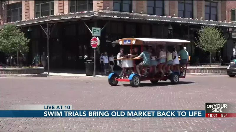 Swim trials bring Old Market back to life - 10 pm