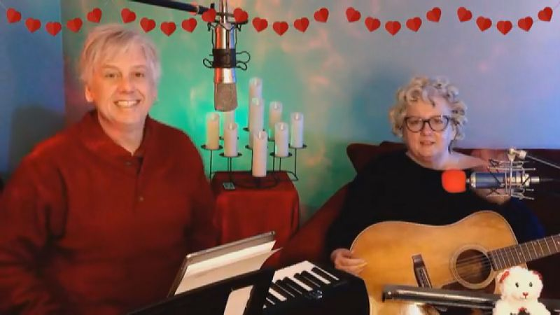 Singing duo bring live concerts to your living room