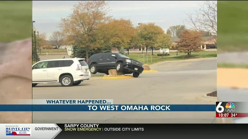 The west Omaha rock is sporting a makeover much to the displeasure of people who work nearby.