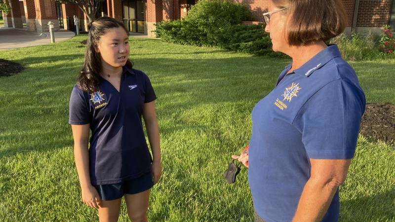 13-year-old 400-meter individual medley swimmer