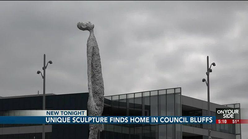 Aluminum sculpture in Council Bluffs