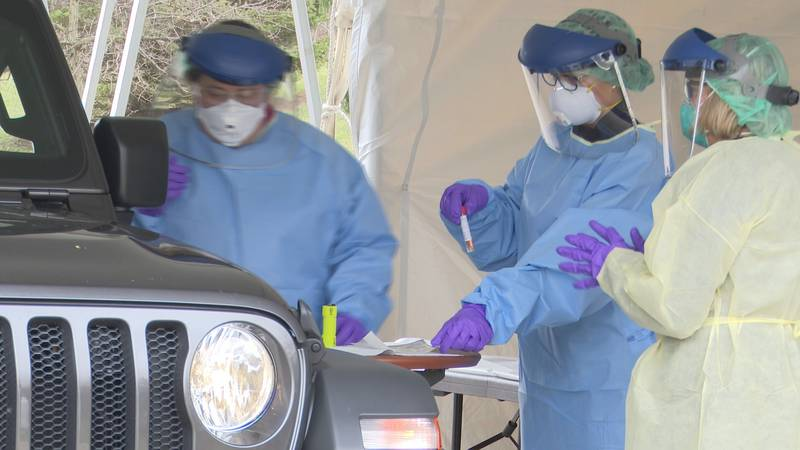 MSU Health Care starts drive-through coronavirus testing.