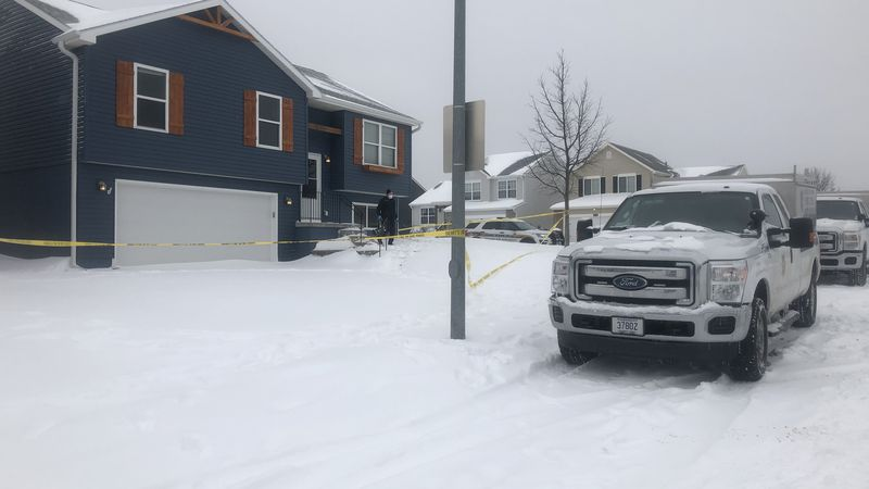 Douglas County Sheriffs conducts a death investigation of a body found at a home near South...