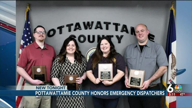 Pottawattamie County honors emergency dispatchers - 5 pm
