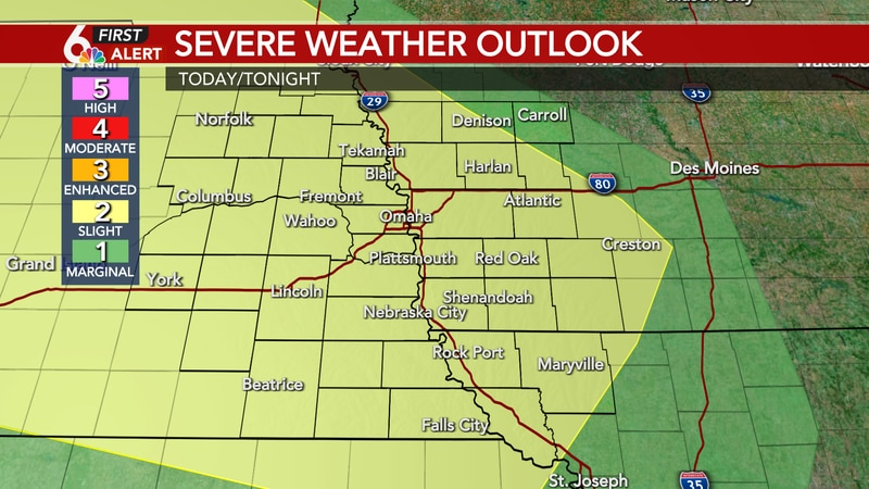 Severe Weather Outlook Monday night