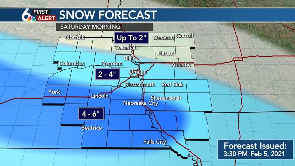 Saturday Snowfall Potential