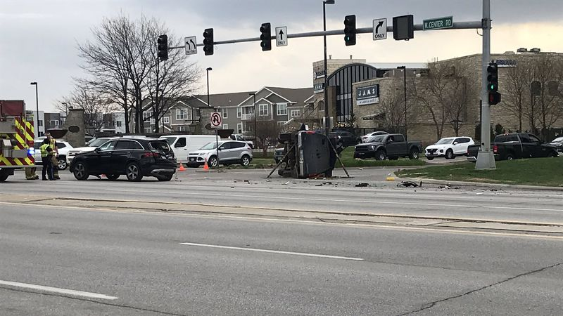 Authorities closed a portion of West Center Road near 171st Street during rush hour on Tuesday...