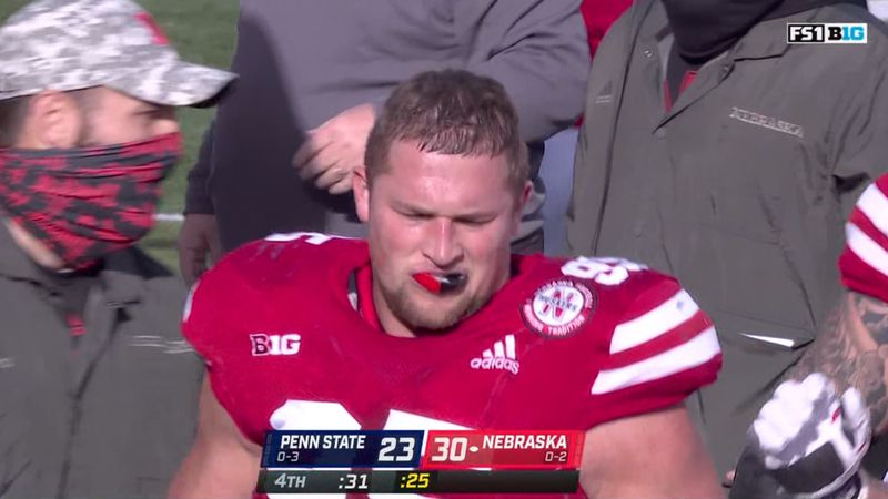 Nebraska defensive lineman Ben Stille.