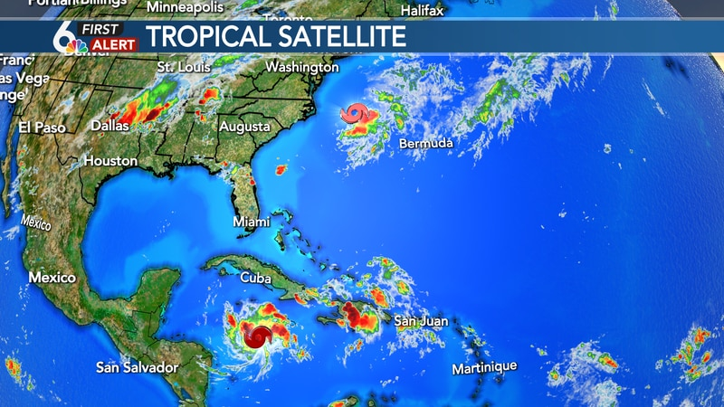 Tropical Storms Omar and Nana