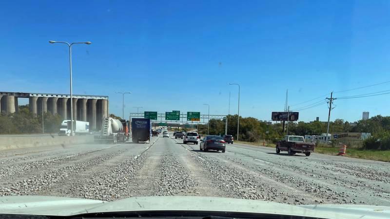 The Nebraska Department of Transportation said a truck hauling rocks spilled across all lanes...