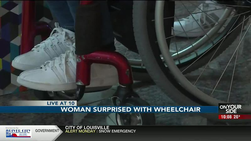 A woman waiting for a new wheelchair finally got her wish thanks to some fellow athletes.