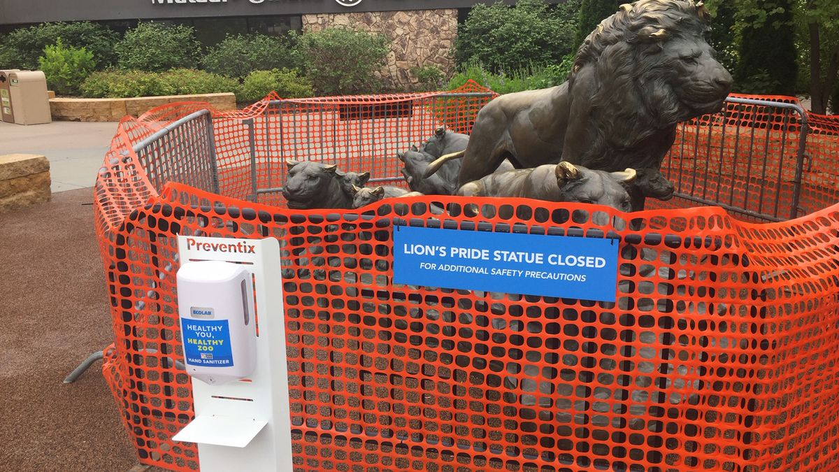 Omaha's Henry Doorly Zoo & Aquarium gave more details Wednesday, May 27, 2020, about its plan to reopen Monday with social-distancing measures, including limited visitors walking in a single direction through the zoo's outdoor spaces. (Mike Plews / WOWT)