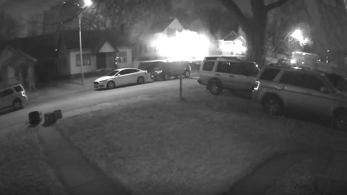 Stephen Weeks' surveillance video captures house fire at 50th and Leavenworth