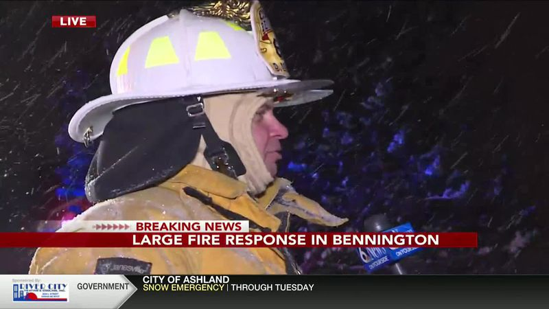 Large fire response in Bennington